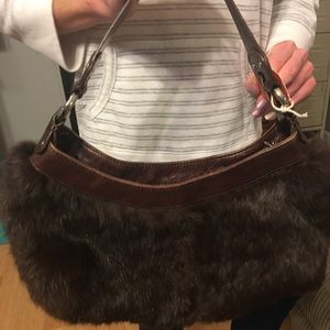 Kenneth Cole fur tote